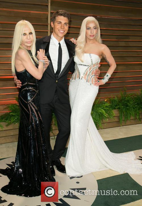 Donatella Versace, Nolan Gerard Funk and Lady Gaga 11