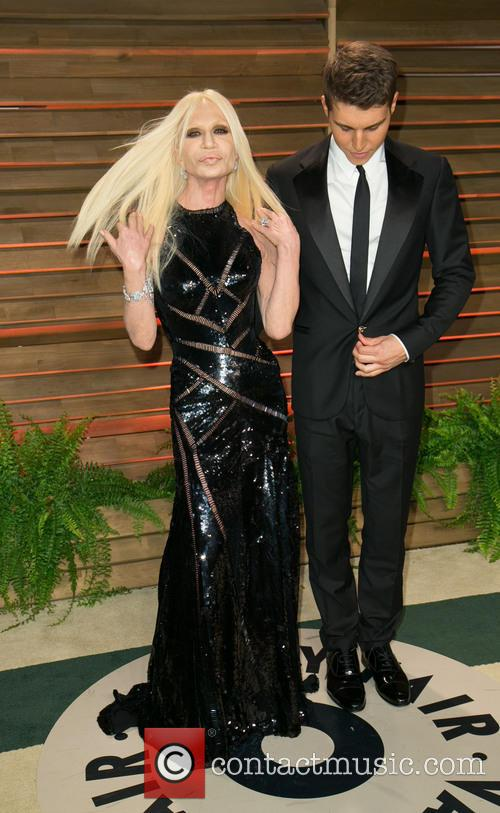 Donatella Versace and Nolan Gerard Funk 7
