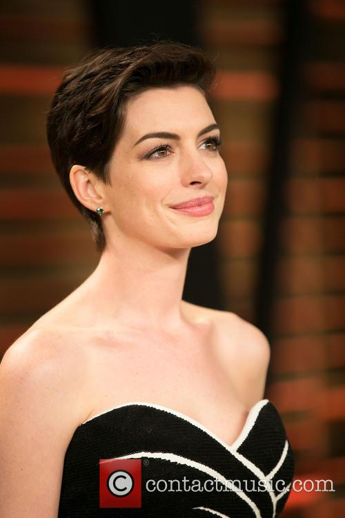 Anne Hathaway Vanity Fair Oscars Afterparty