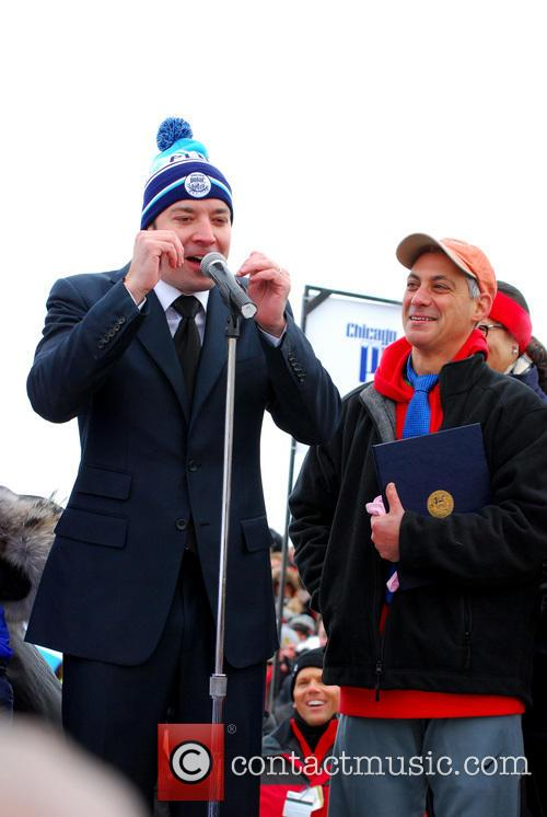 Jimmy Fallon and Rahm Emanuel 7