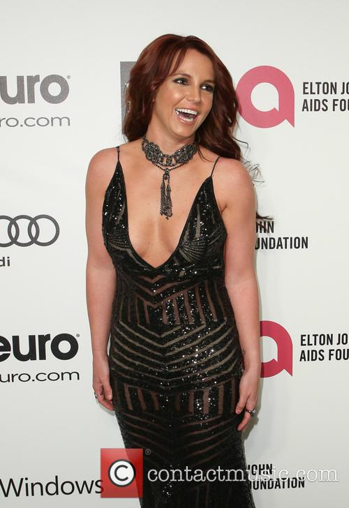 Britney Spears Attends Elton John's Aids Benefit