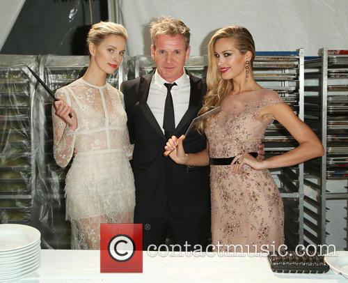 Karolina Kurkova, Gordon Ramsey and Petra Nemcova 4