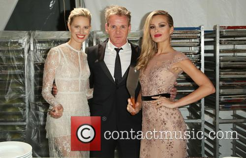 Karolina Kurkova, Gordon Ramsey and Petra Nemcova 6