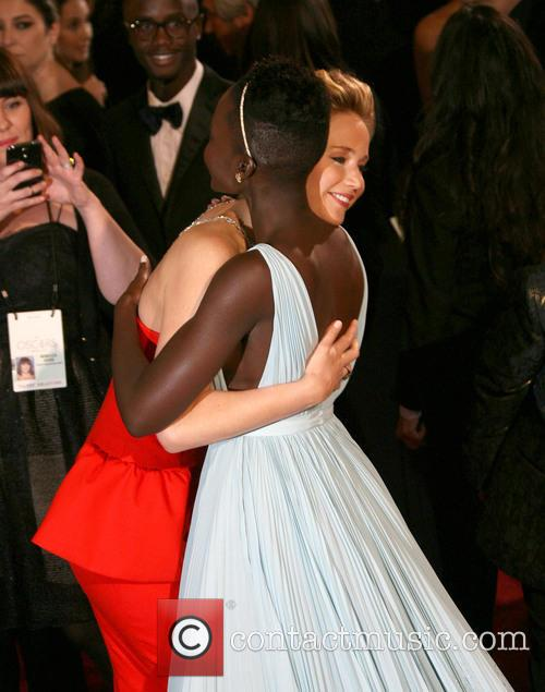 Lupita Nyong'o and Jennifer Lawrence 2