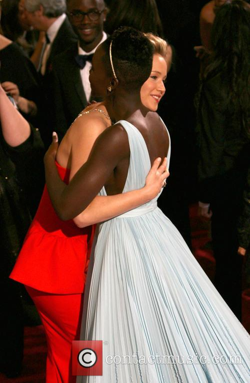 Lupita Nyong'o and Jennifer Lawrence 1
