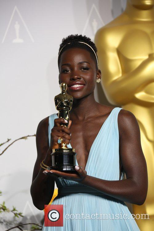 Lupita Nyong'o at the 2014 Oscars