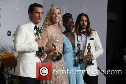 Matthew McConaughey (l-r), Cate Blanchett, Lupita Nyong'o, Ja, Oscars