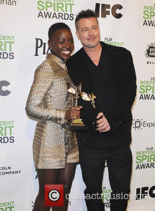 Brad Pitt and Lupita Nyong'o 2