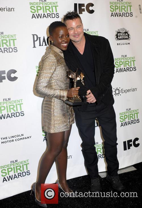 Brad Pitt and Lupita Nyong'o 11