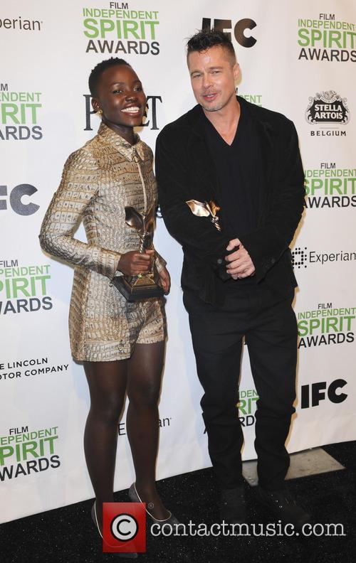 Brad Pitt and Lupita Nyong'o 6