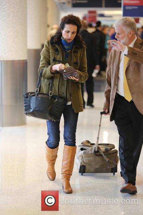 Andie MacDowell arriving at LAX
