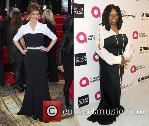 Julia Roberts at Golden Globes 2014 vs. Whoopi...