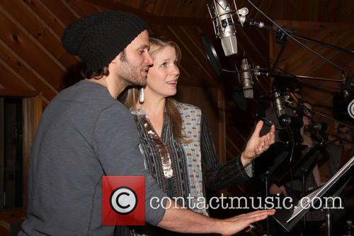 Recording Session for Broadway's The Bridges of Madison...