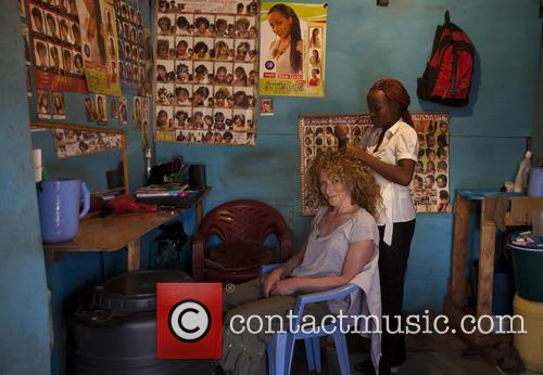 TV Dragon Kelly Hoppen MBE visits Kenya Youth...