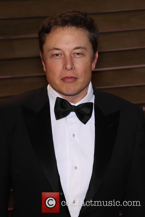 Elon Musk at the Vanity Fair Oscar party