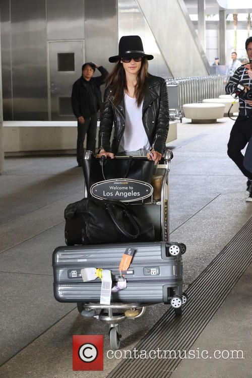 Alessandra Ambrosio arrives at (LAX)