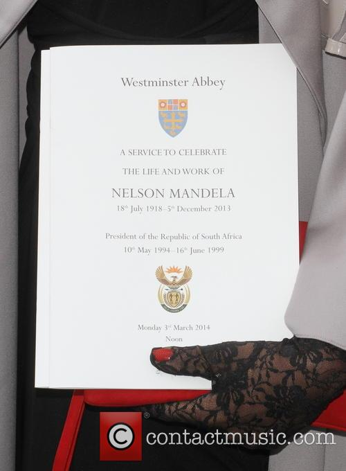 Nelson Mandela, Westminster Abbey, London