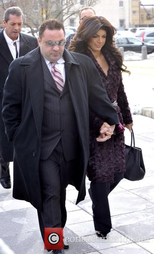 Teresa and Joe Giudice arrive at a federal...