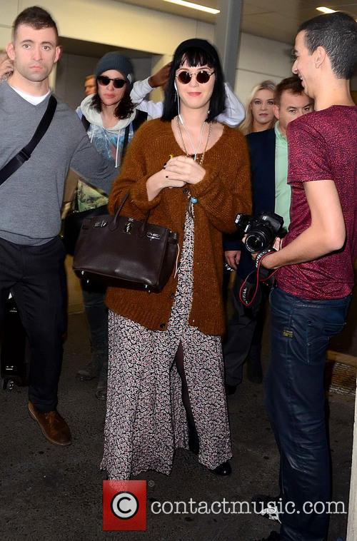 Katy Perry arrives in Australia