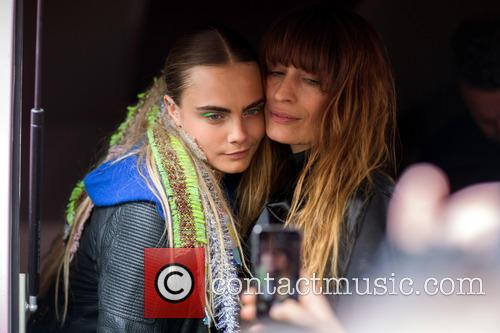 Cara Delevingne and Caroline de Maigret post show