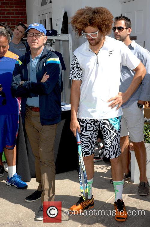 Kevin Spacey and RedFoo of LMFAO 2