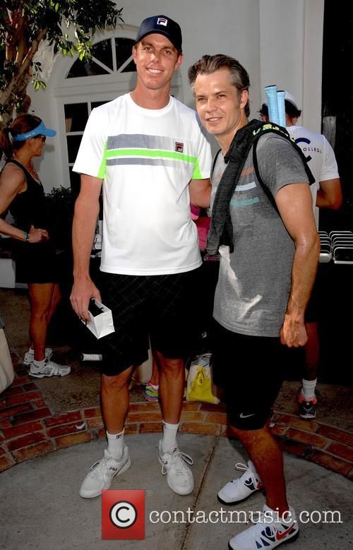 Sam Querrey and Timothy Olyphant 3