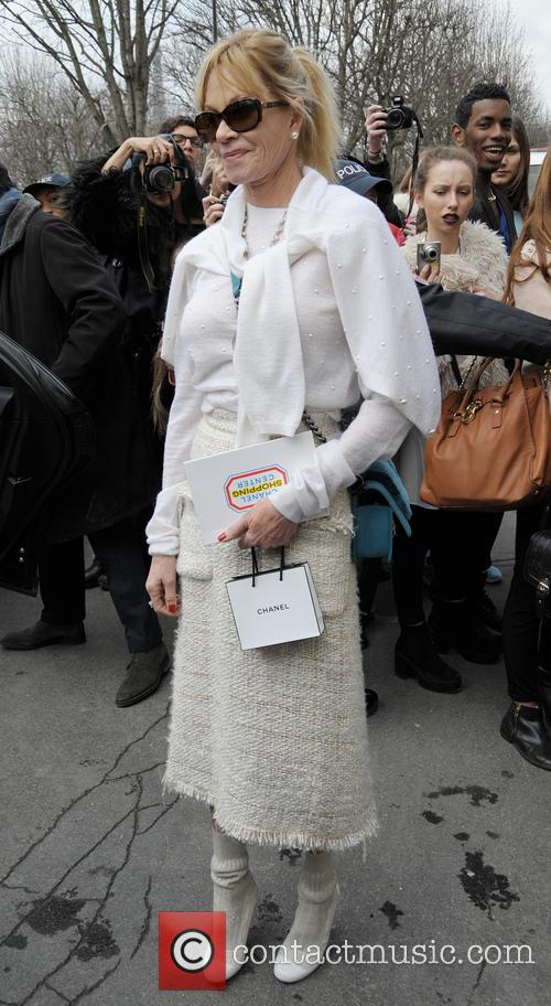 melanie griffith celebrities at the chanel fashion 4096972