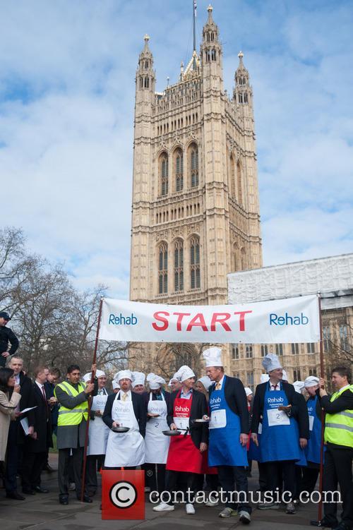 Parliamentary Pancake Race