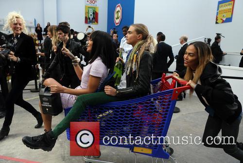 Rihanna, Cara Delevingue and Joan Smalls 2