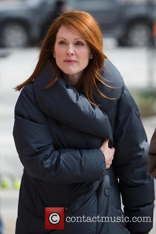 Julianne Moore on the set of 'Still Alice'