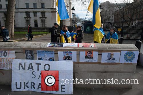 Ukraine Protest at Downing Street