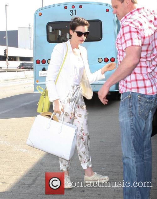 Anne Hathaway at LAX