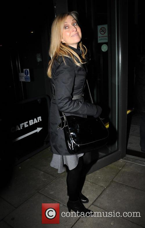 fiona phillips celebrities outside hampstead theatre 4098608