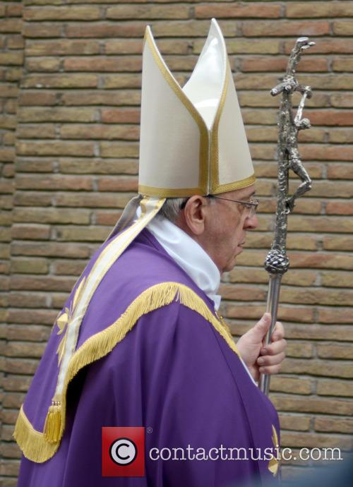 Pope Francis at the Ash Wednesday Penitential Procession