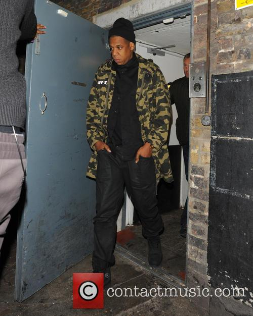 Beyonce and Jay-Z leaving The Arts Club