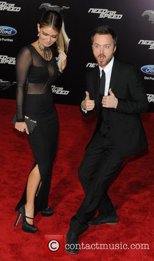 Jessica Lowndes and Aaron Paul 2