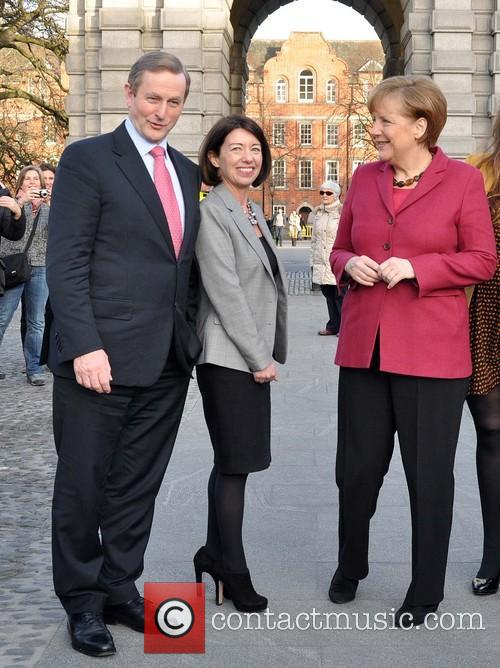 Angela Merkel visits Trinity College