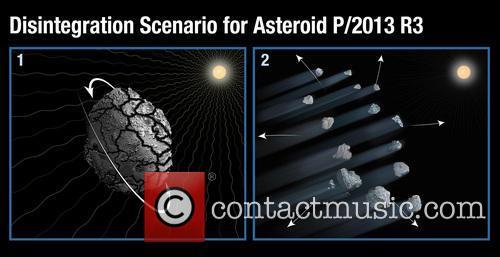 Hubble Witnesses Asteroid Breakup 2