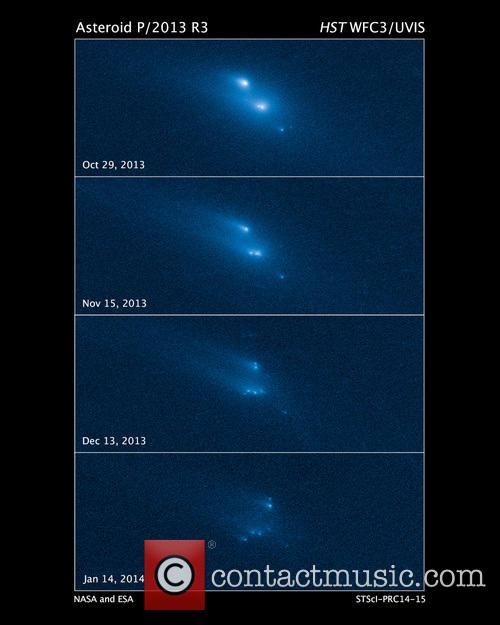Hubble Witnesses Asteroid Breakup