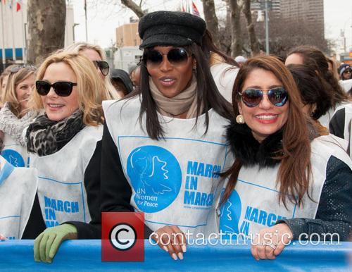 Ban Soon-taek, Kim Cattrall, Naomi Campbell and Muna Rihani Al Nasser 2