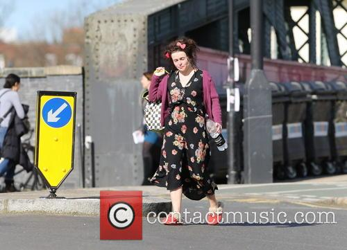 Helena Bonham Carter out and about