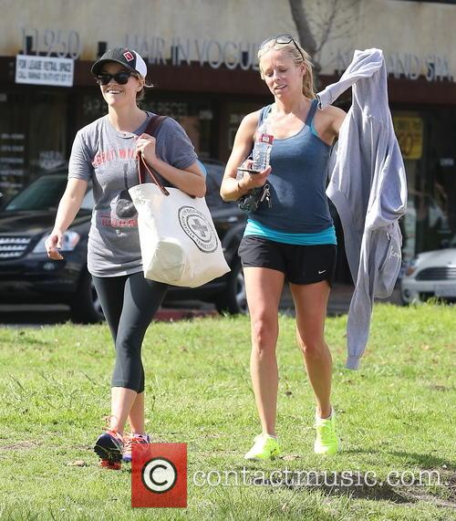 Reese Witherspoon leaves a gym