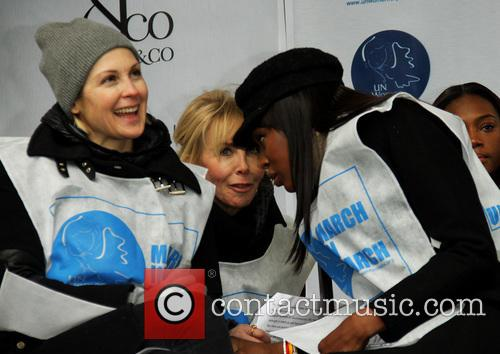 Kelly Rutherford, Trudie Tyler and Naomi Campbell 2