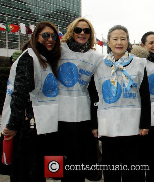 Muna Rihiani Al Nassir, Kim Cattrall and Ban Soon Taek 1