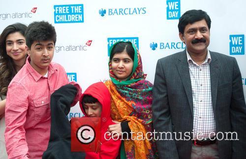 Malala Yousafzai, Ziauddin Yousafzai, Apal Khan and Khushal Khan 7
