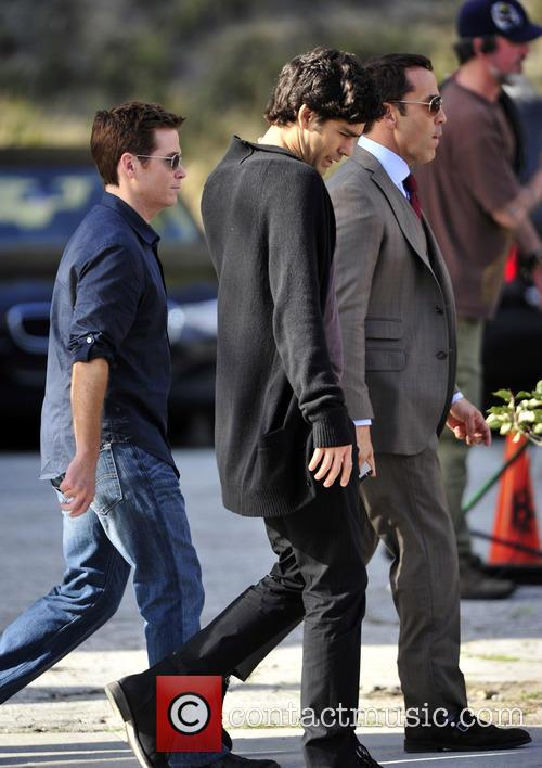 On the set of the 'Entourage' movie
