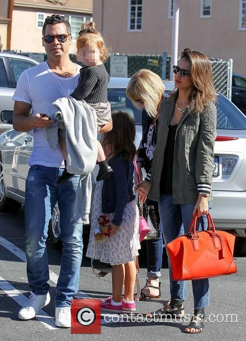 Cash Warren, Haven Warren, Jessica Alba and Honor Warren 8