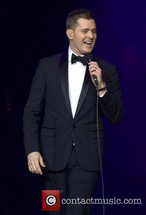 Michael Buble performs in Scotland