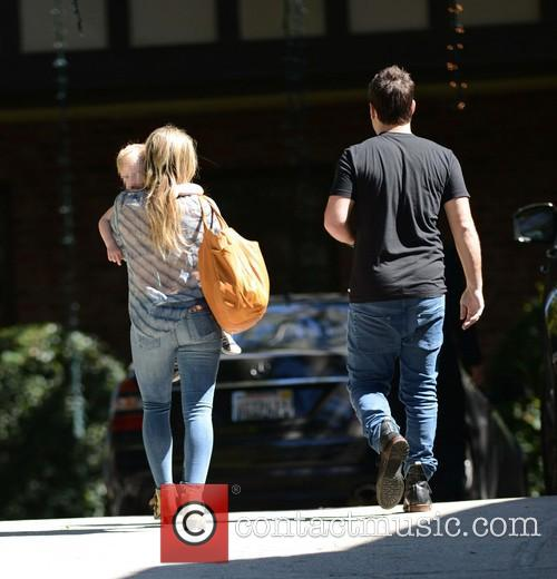 Hilary Duff and Mike Comrie take Luca to...