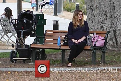 Drew Barrymore At The Park